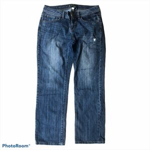 Apt 9 distressed cropped jeans